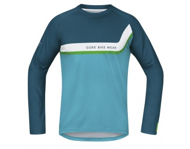 GORE BIKE WEAR POWER TRAIL long-sleeved cycling shirt ink blue/scuba blue
