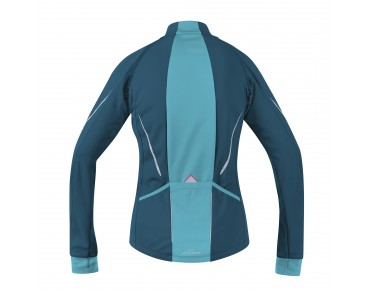 GORE BIKE WEAR PHANTOM 2.0 WS SO zip-off jacket for women ink blue/scuba blue