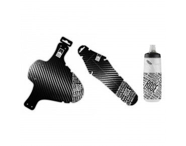 ROSE set: schlamm:PE carbon front, rit:ze carbon rear mudguard and Podium drinks bottle 710 ml