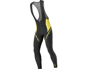 MAVIC COSMIC ELITE 16 Thermo Trägerhose black/mavic yellow