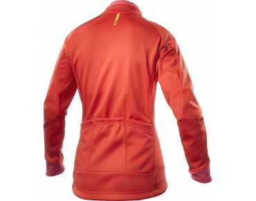 MAVIC AKSIUM 16 women's thermal windbreaker racing red