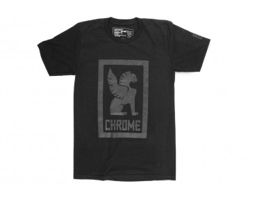 CHROME LARGE LOCK UP t-shirt black