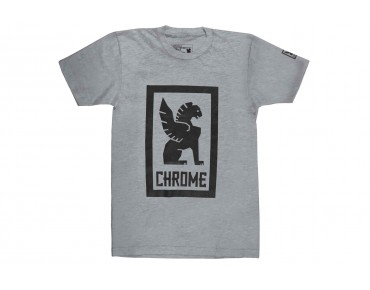 CHROME LARGE LOCK UP t-shirt heather grey