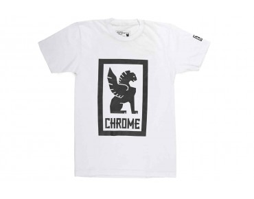 CHROME LARGE LOCK UP t-shirt white