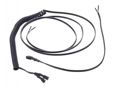 keine Marke Twin-core light cable set black