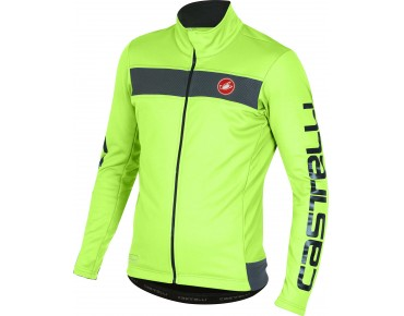 Castelli RADDOPPIA GORE WINDSTOPPER soft shell jacket yellow fluo
