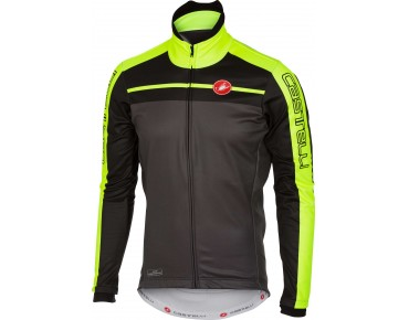 Castelli VELOCISSIMO GORE WINDSTOPPER soft shell jacket charcoal/black/yellow fluo