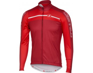 Castelli VELOCISSIMO long-sleeved jersey ruby red/red