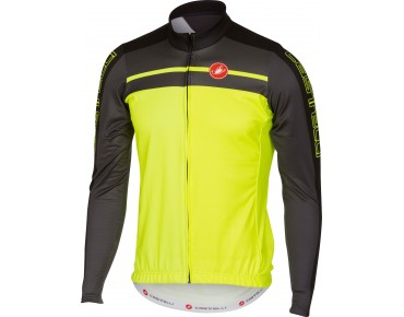 Castelli VELOCISSIMO long-sleeved jersey yellow fluo/anthracite/black