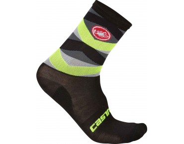Castelli FATTO 12 Winter Socken black/yellow fluo