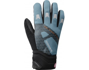 SHIMANO WINDSTOPPER Thermo Reflective winter gloves aegean blue