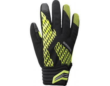 SHIMANO WINTER EXTREM winter gloves neon gelb