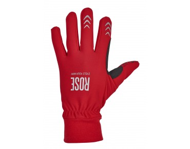 ROSE THERMO FLEECE full-finger gloves red