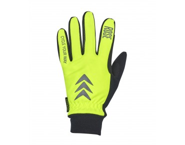 ROSE ROAD EUROTEX KID winter gloves yellow fluo/black