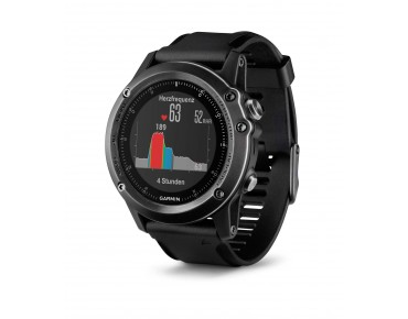 Garmin fenix 3 HR GPS multisport watch with heart rate at the wrist saphir