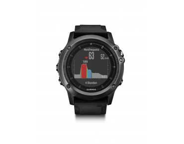 Garmin fenix 3 HR GPS multisport watch bundle with heart rate chest belt and heart rate at the wrist saphir
