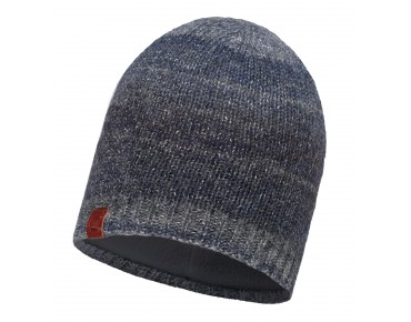 BUFF LIZ KNITTED & POLAR FLEECE hat dark navy