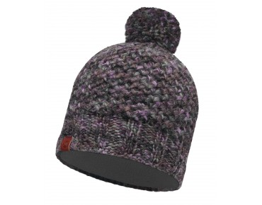 BUFF MARGO KNITTED & POLAR FLEECE hat plum