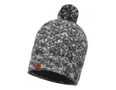 BUFF MARGO KNITTED & POLAR FLEECE hat grey