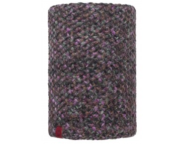 BUFF MARGO KNITTED & POLAR FLEECE neck warmer plum