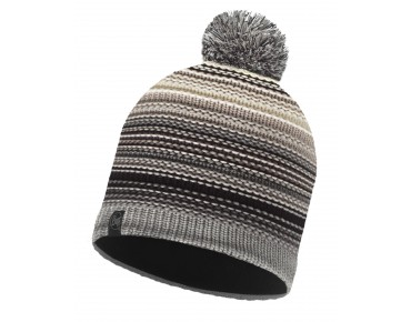 BUFF NEPER KNITTED & POLAR FLEECE hat eleni grey