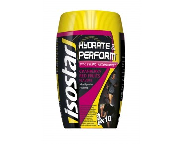 Isostar Hydrate & Perform Drink Getränkepulver Cranberry & Red Fruits