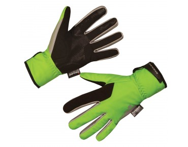 ENDURA DELUGE II winter gloves hi-viz green