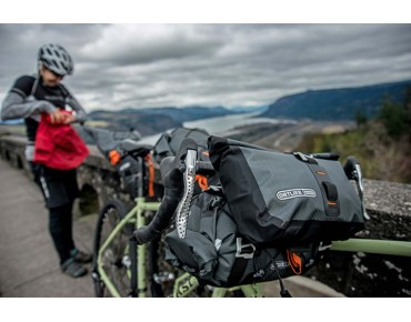 ORTLIEB Accessory pack volume expansion and handlebar bag slate