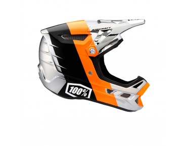 100% AIRCRAFT - casco integrale R8 chrome orange