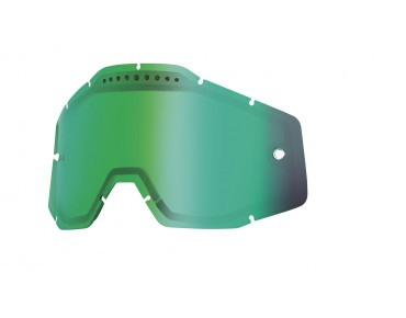 100% VENTED DUAL replacement lens green mirror