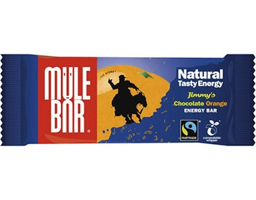 Mulebar Natural Tasty Energy Riegel 40g Jimmy's Chocolate Orange