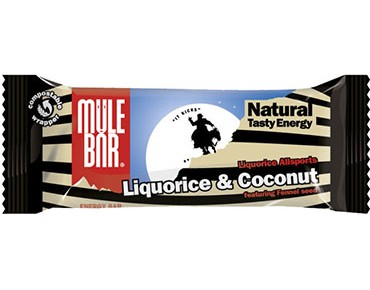 Mulebar Natural Tasty energy bar 40g liquorice Allsports/liquorice coconut