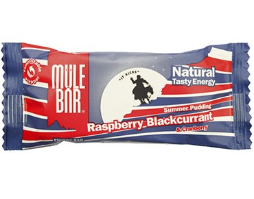 Mulebar Natural Tasty Energy Riegel 40g Summer Pudding / Himbeere, Cranberry, Johannisbeere