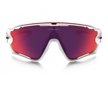 OAKLEY JAWBREAKER - occhiali polished white/PRIZM ROAD