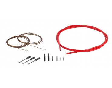 SHIMANO Dura Ace gear cable kit, polymer-coated red