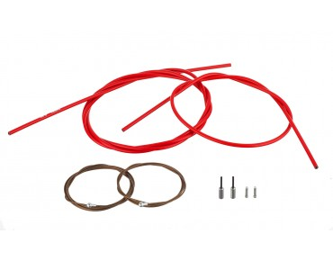 SHIMANO Dura Ace brake cable set, polymer-coated for BR-9000 red