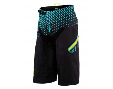 100% R-CORE SUPRA DH cycling shorts black/cyan