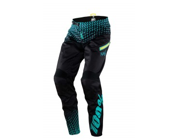 100% R-CORE SUPRA DH cycling trousers black/cyan
