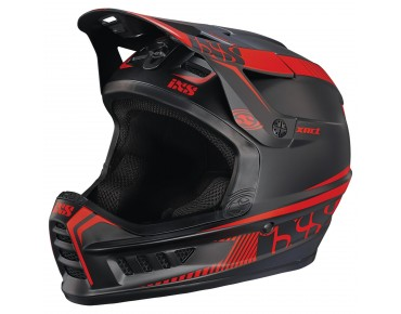 iXS XACT - casco integrale black/fluo red