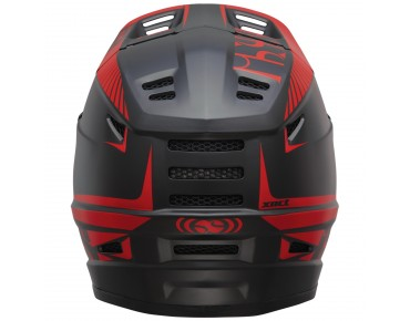 IXS XACT Vollvisierhelm black/fluo red