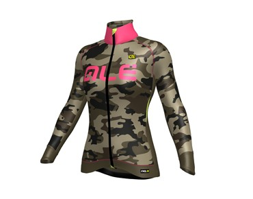 ALÉ GRAPHICS PRR CAMO 2017 women's softshell jacket mud/fluo pink