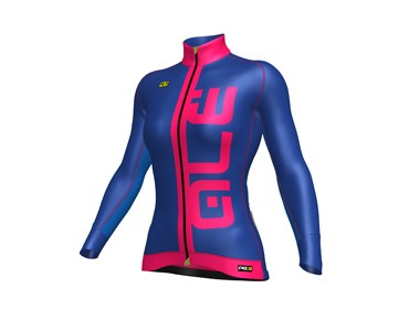 ALÉ GRAPHICS PRR ACROBALENO 2017 women's winter jersey blue light/strawberry