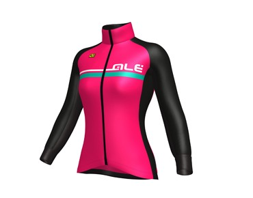 ALÉ GRAPHICS EXCEL TOURIST 2017 women's softshell jacket strawberry/emerald
