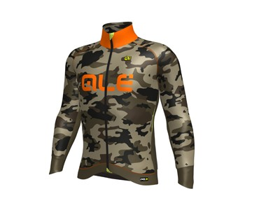 ALÉ GRAPHICS PRR CAMO 2017 softshell jacket mud fluo/orange