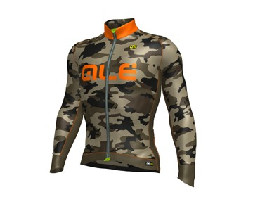 ALÉ GRAPHICS PRR CAMO 2017 Wintertrikot mud fluo/orange