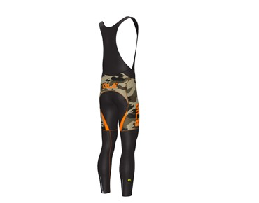 ALÉ ALÉ GRAPHICS PRR CAMO 2017 thermal bib tights mud fluo/orange