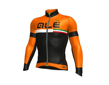 ALÉ GRAPHICS PRR TIRRENO 2017 winter jersey black/fluo orange