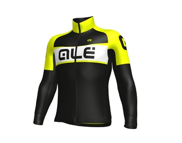ALÉ GRAPHICS EXCEL WEDDELL 2017 soft shell jacket black/yellow fluo