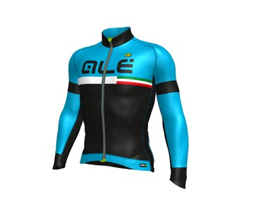 ALÉ GRAPHICS PRR TIRRENO 2017 winter jersey black/blue sky