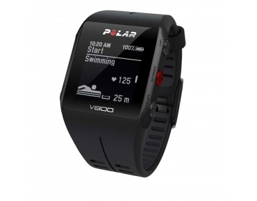 Polar V800 HR sports watch schwarz/schwarz